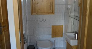 Appartement Sonnberg Blick zur Toilette
